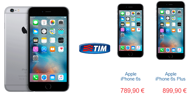 Apple iPhone 6s con TIM: offerte Ricaricabile, Abbonamento e TIM Next