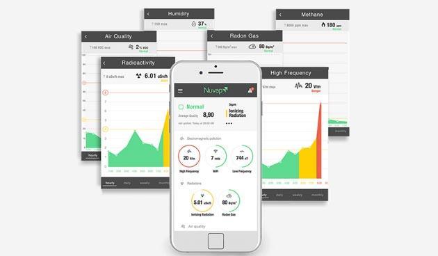 NUVAP N1, fonti inquinanti in casa sotto controllo con smartphone e tablet