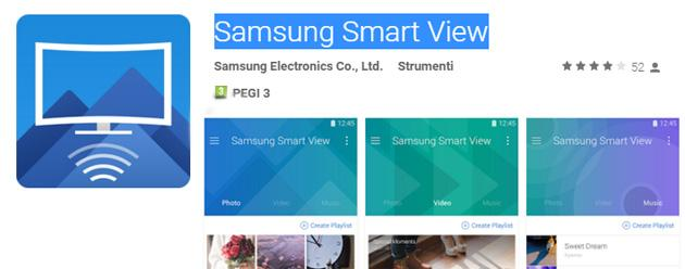 Samsung Smart View, nuova app per condividere Video e Foto in TV