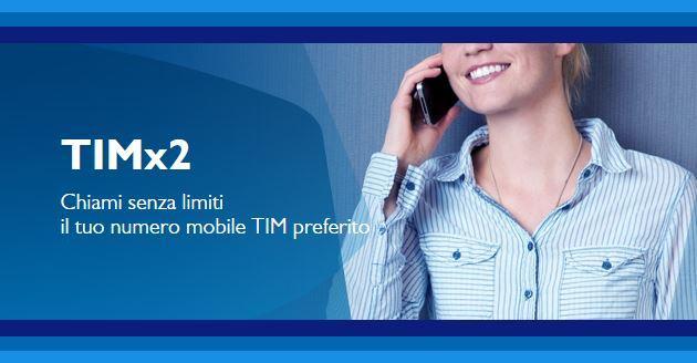Tim X 2, chiama senza limiti un numero preferito a 1 euro alla settimana