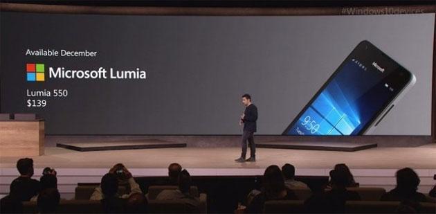 Microsoft Lumia 550 disponibile in tempo per Natale