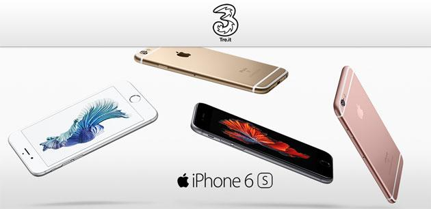 Apple iPhone 6s con 3 Italia: offerte Ricaricabile e Abbonamento