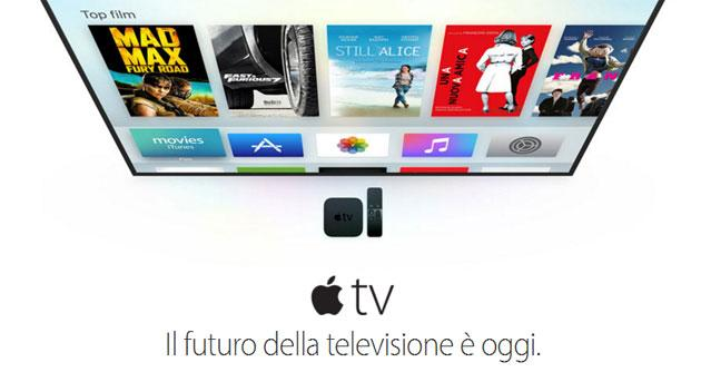 Nuova Apple TV 2015 disponibile in Italia da 179 Euro