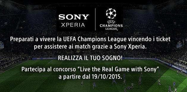 Sony Xperia Z5 regala la UEFA Champions League
