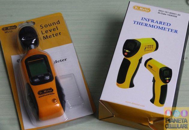 Recensione termometro infrarossi e misuratore del livello del suono by Dr. Meter