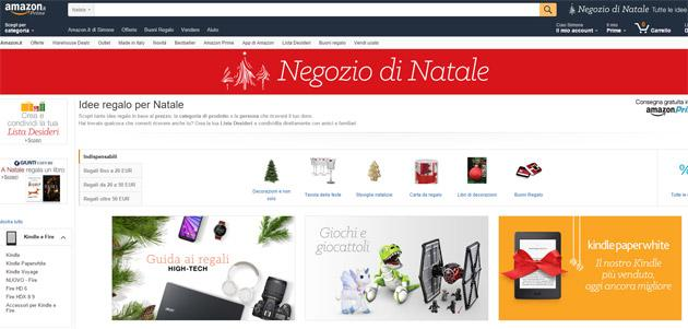 Amazon.it apre negozio di Natale 2015