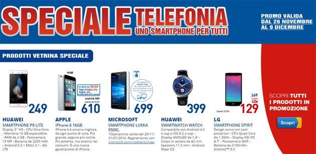 Euronics speciale Smartphone per tutti fino al 9 dicembre