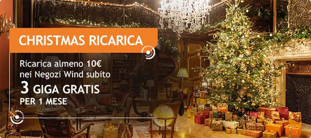 Wind Christmas Ricarica, 3GB di Internet Gratis