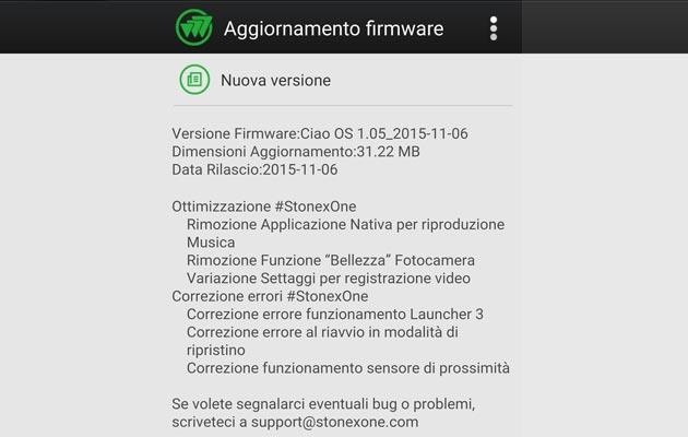 Stonex ONE, disponibile firmware Ciao OS 1.05