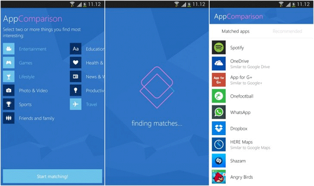 AppComparison di Microsoft mostra quali app Android sono disponibili per Windows Phone