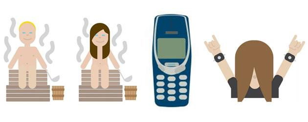 Nokia 3310 emoji di Stato della Finlandia