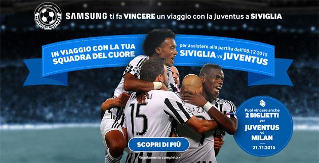 Samsung regala la Juventus col concorso Love Football More