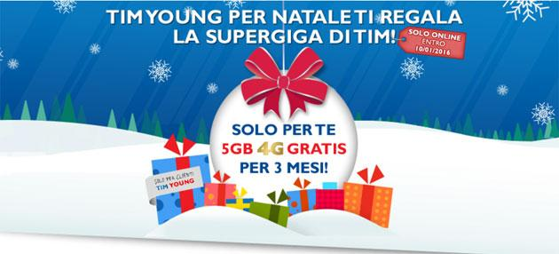 Tim Young a Natale regala SuperGIGA 5GB