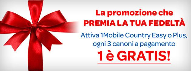 1Mobile premia i clienti Country Plus o Country Easy fedeli