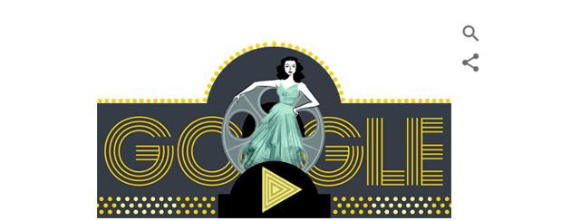 Hedy Lamarr, doodle Google per attrice e inventrice austriaca