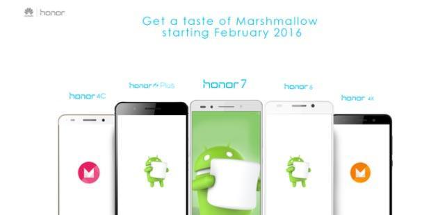 Huawei, Android 6 Marshmallow sui telefoni Honor sta arrivando, prima su Honor 7