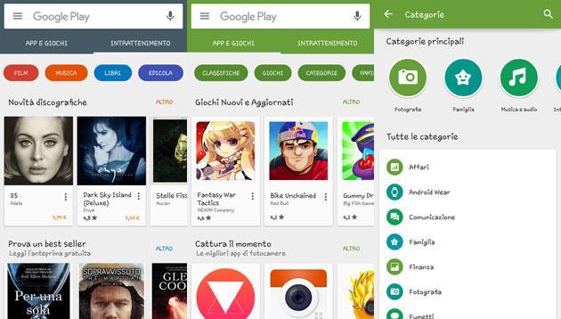 Google Play Store si rinnova, nuova versione disponibile anche in Italia