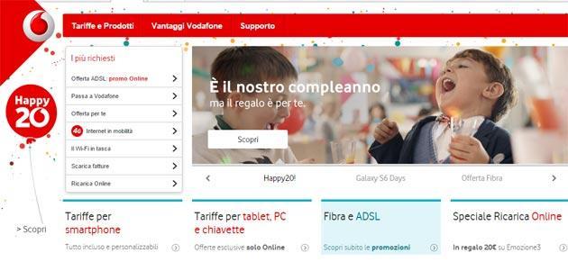 Vodafone compie 20 anni e regala HAPPY20