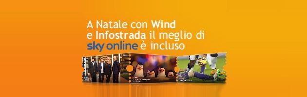 Wind regala Sky Online per Natale