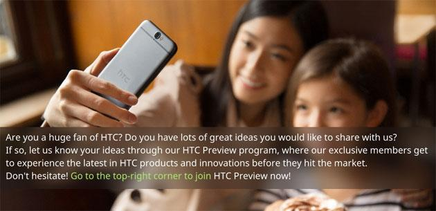 HTC Preview, programma ufficiale per testare prodotti HTC in Anteprima