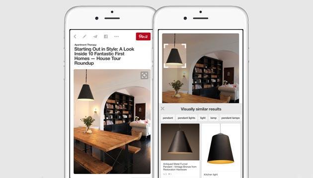 Pinterest introduce la Ricerca Visiva