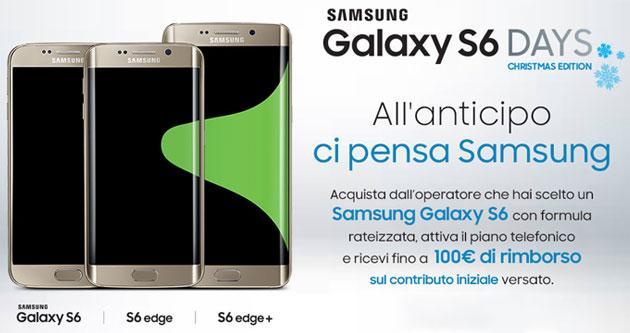 Samsung Galaxy S6 DAYS Christmas Edition rimborsa fino a 100 euro