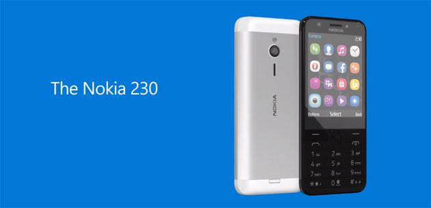 Microsoft Nokia 230, telefono economico per chi ama i selfie
