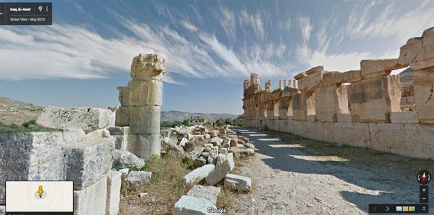 Google mappa Petra e siti storici della Giordania su Street View