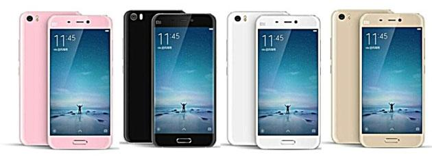 Xiaomi Mi 5 si mostra in nuovi renders