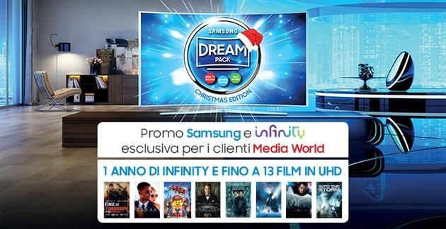 Infinity, 13 film in UHD disponibili su TV Samsung