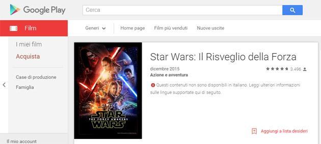 Star Wars: Il Risveglio della Forza in preordine su iTunes, Windows Store, Google Play