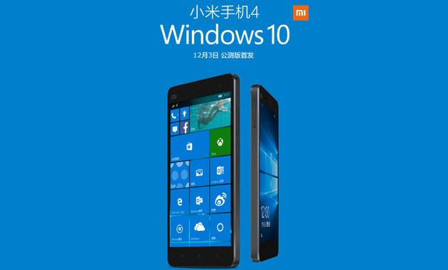 Xiaomi Mi 4 con Windows 10 Mobile da dicembre