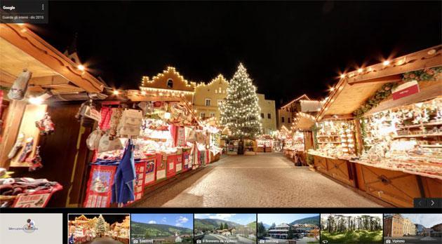 Case Di Montagna A Natale : Google street view tra i mercatini di natale del trentino