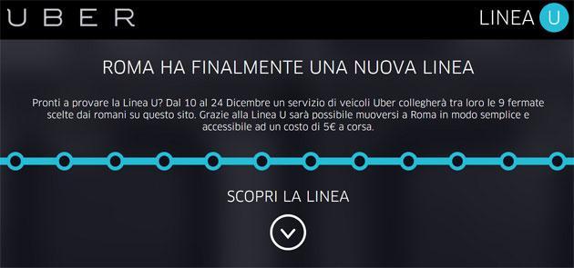 Uber, Linea U attiva a Roma: percorso e come funziona
