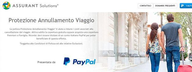 Paypal lancia Protezione Annullamento Viaggio