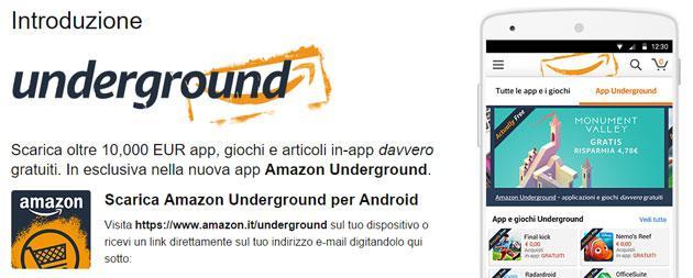 Amazon Underground, tante App e Giochi gratis