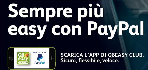 Con Paypal da Q8 si paga il carburante con lo smartphone