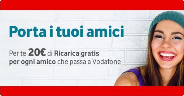 Vodafone Porta i Tuoi Amici, 20 euro in Omaggio per ogni numero presentato