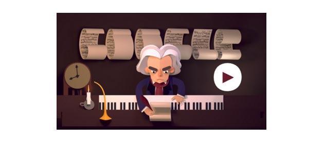 Google Doodle da giocare dedicato a Beethoven
