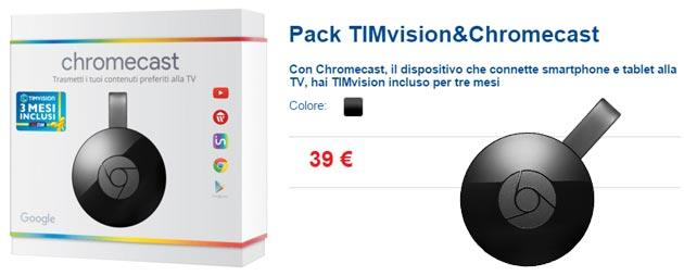 Pack TIMvision e Chromecast regala 3 mesi di video On Demand
