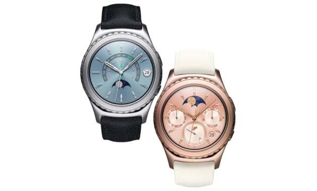 Foto Samsung Gear S2 classic in Rose Gold e Platinum disponibile