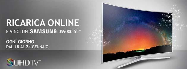 Wind regala TV Samsung SUHD JS9000 con Ricarica e Vinci