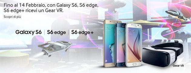 Samsung regala Gear VR acquistando Galaxy S6, S6 Edge o S6 Edge+