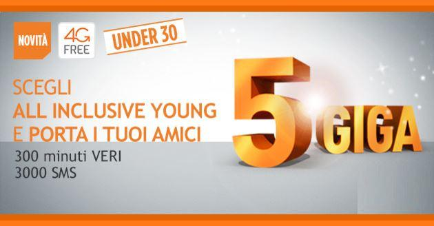 Wind All Inclusive Young con 5 GB al mese se si presenta un Amico