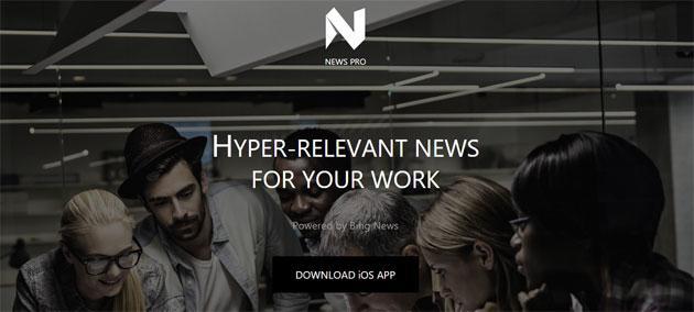 Microsoft News Pro, app che serve notizie basate sul lavoro