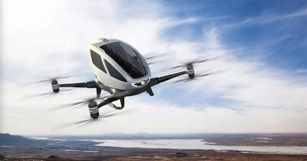 CES 2016: EHang 184, il drone taxi che trasporta persone