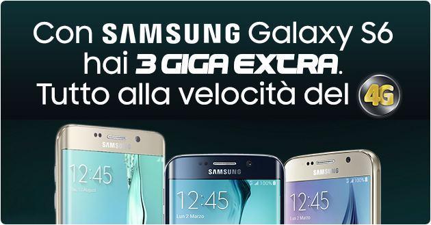 PosteMobile, 3 GB in omaggio se si acquista un prodotto della famiglia Galaxy S6