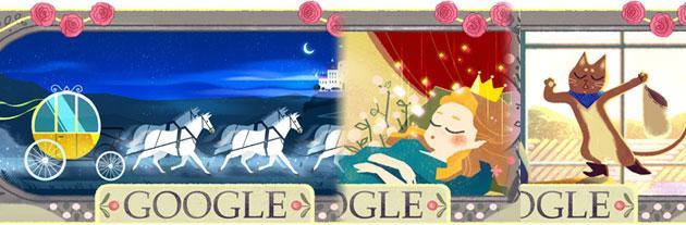 Charles Perrault celebrato da Google con un doodle