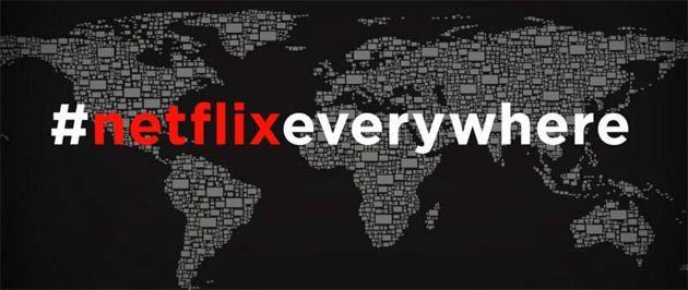 Netflix disponibile in 190 paesi annuncia i piani per il 2016