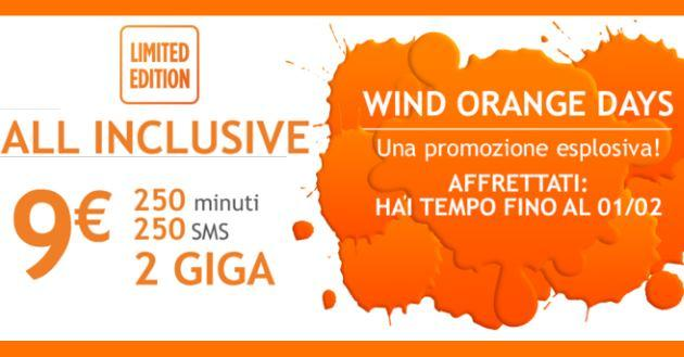 Wind All Inclusive Limited Edition offre 1 GB in omaggio per 12 mesi